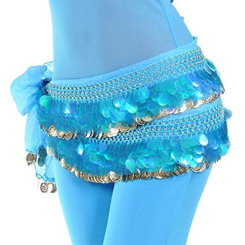 n Hüfttuch Mit Goldmünzen Röcke Münze Perlen Schal (Exotische Gypsy Kostüm)