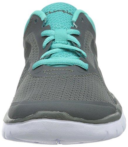 Champion Damen Low Cut Shoe Alpha Laufschuhe Grau (Grey Melange/Neongrün 1)