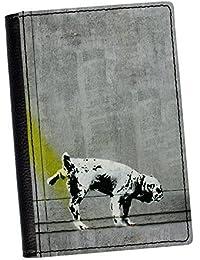 Perro meón piel sintética de alta calidad pasaporte por Banksy