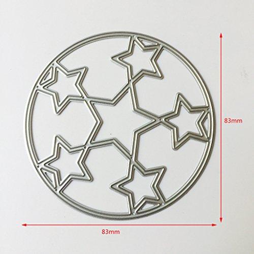 Lifet Stern Kreis Stanzformen Schablonen Scrapbook Album Papier Karte Prägen DIY Handwerk