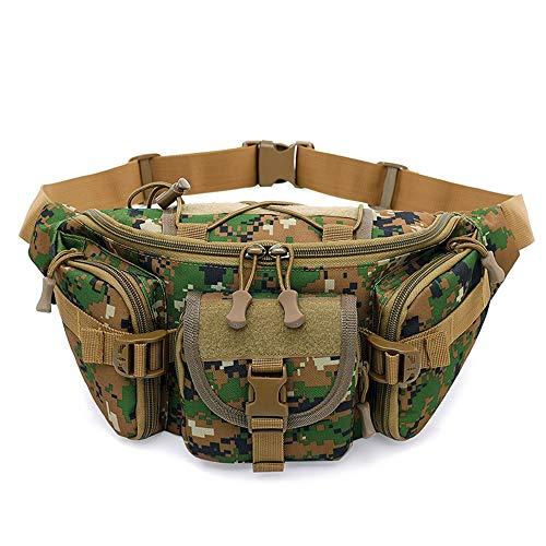 Yimiky Militär Gürteltasche, Große Kapazität Taktische Gürteltasche Leichte Camping-Tasche mit Reißverschlusstasche Tragbarer Läufer Sport Brusttaschen Gürteltasche für Trip Survival Kit - A05