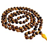 #6: 100% Natural Certified & Pure Golden & Brown Tiger Eye Crystal Mala Healing Gemstone Necklace Mala for Unisex by Neelam Ratna Products
