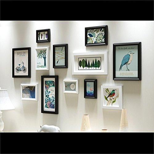 Caoyu photo wall europeo parete in legno massello europeo parete attrezzata moderna minimalista per la casa cornice per foto cornice per foto photo frame (colore : a)