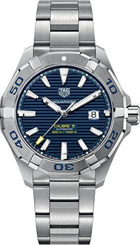 TAG HEUER MEN'S AQUARACER 43MM STEEL BRACELET AUTOMATIC WATCH...
