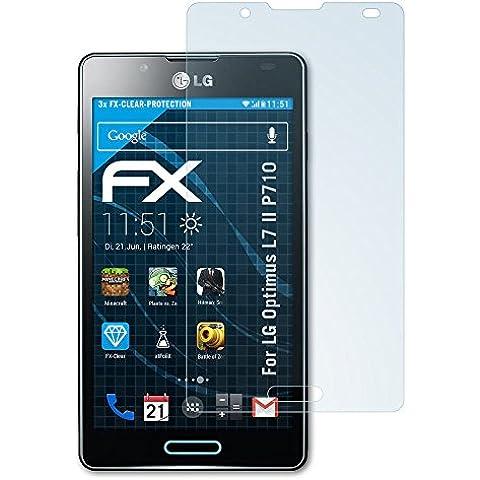 FoliX FX Clear - Protectores de pantalla para LG Optimus L7 II P710 (3 unidades)