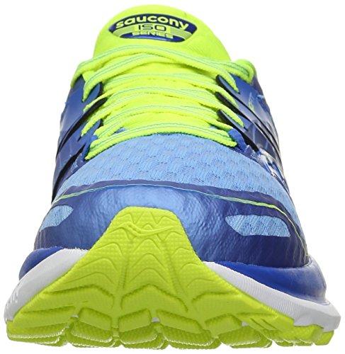 Saucony Triumph Iso 2 W' , Scarpe da Corsa Donna BLUE/LIGHT BLUE/CITRON