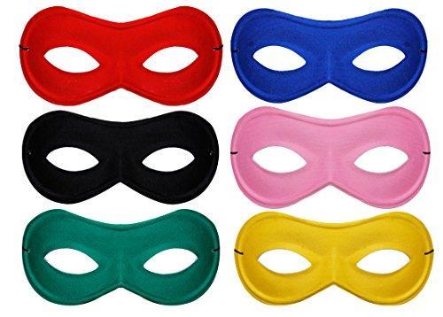 Superhero Fancy Dress Eyemask–erhältlich in 6Farben. Ideal für Hero und Bösewicht Fancy Kleid Kostüm (Ideen World Dress Kostüme Book Day Fancy)