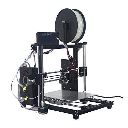 Hictop stampante 3d alluminio prusa i3 kit fai da te auto livellamento 270 x 210 x 180 formato di stampa 【filamento non incluso】