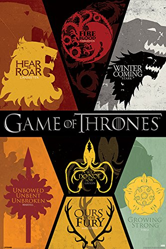 Grupo Erik Editores Game of Thrones Sigils Poster, Papel, 24 x 36-Inches