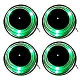 4Amarine-made 3LED grün Edelstahl Getränkehalter mit Abfluss und LED blau marine Boot RV Camper–grün
