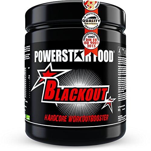 Stärkster EU HARDCORE Booster - 600g - HOCHDOSIERT - Pre Workout Trainingsbooster BLACKOUT für extremen PUMP, geschärften FOKUS & andauernde POWER - Made in Germany