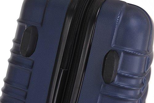 BEIBYE 2088 Zwillingsrollen Reisekoffer Koffer Trolleys Hartschale M-L-XL-Set in 13 Farben (Dunkelblau, XL) - 6