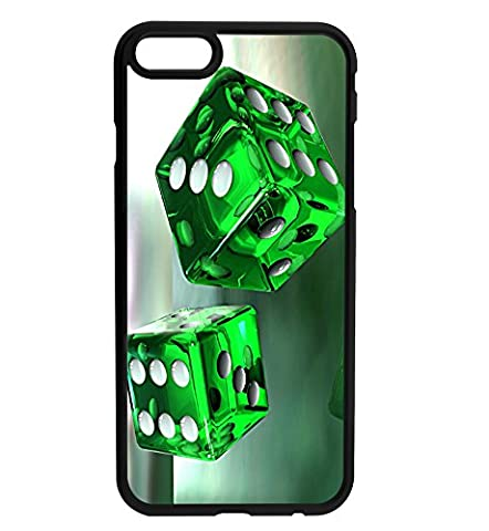 3D Effect Green Dice - Gamer - Lucky Rubber Bumper Hard Back Phone Case Cover for iPhone & Samsung
