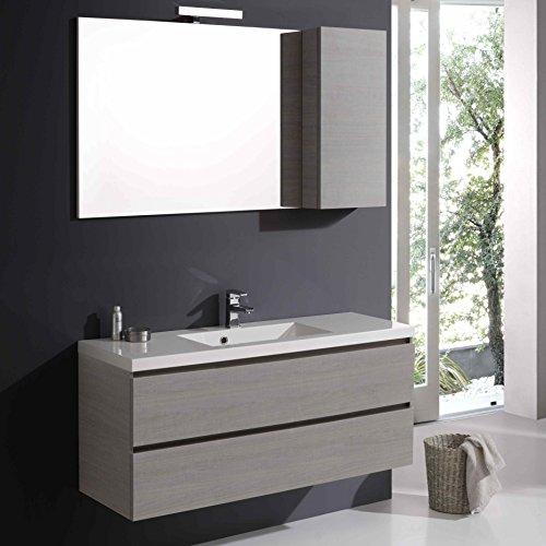 Mobile bagno manhattan con cassetti 120 cm specchio e pensile