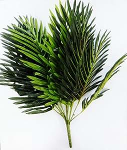 feuille palmier artificielle 43cm 17 feuilles plantes feuillage fleurs artificielles