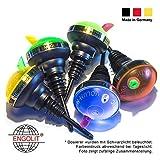ENGOLIT 2cl Portionierer »Volum-Matic« UV-leuchtend (5er Pack) Made in Germany | ohne erneutes Umschwenken der Flasche | Spirituosen Dosierer