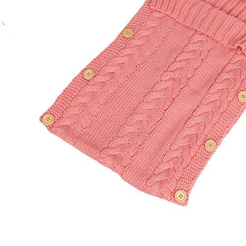 ... Swaddle sacco nanna per bambini 0 – 12 mesi neonato Wrap coperta per  bambini passeggino Wrap Sleep Sacks Button (Rosa). Visualizza le immagini bd802377ea45