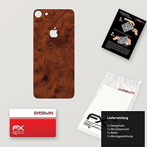 "Skin Apple iPhone 7 ""FX-Velvet-Black"" Designfolie Sticker FX-Wood-Root"