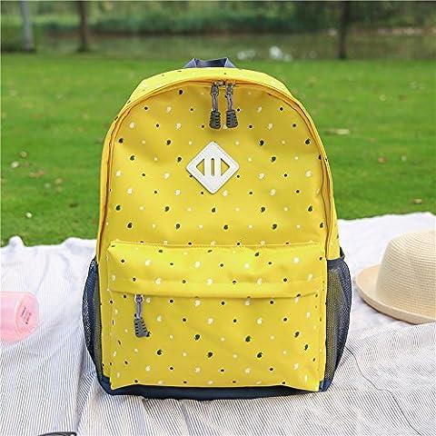 Leggera borsa di tela Candy-scuola colorati di grande capacità zaino