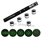 #8: 5MW RECHARGEABLE HIGH POWER GREEN LASER POINTER BEAM WITH STYLISH DISCO LIGHT