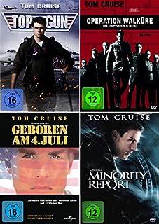 Tom Cruise 4-Filme Collection: Top Gun + Geboren am 4. Juli + Minority Report + Operation Walküre - Das Stauffenberg Attentat (