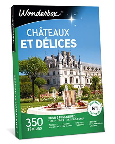 Wonderbox - Coffret cadeau couple noel - CHÂTEAUX ET DÉLICES - 350 séjours :...