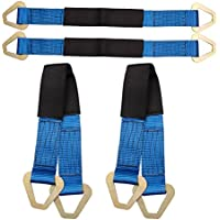 Blue Hanshin 8-12MM Tow Strap Set Towing Hook Sports Racing gh Strength Car Red For Vehicle Front Rear Bumper