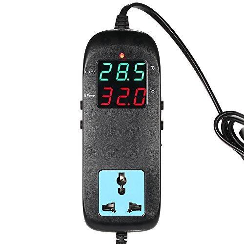 KKmoon Thermostat Controller Thermoelement Temperatur Anzeige LED mit flexiblem AC 90 V ~ 250 V für Kunstdruck