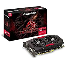 PowerColor AMD ATI Radeon PCI-E RX 580 Red Dragon 8 GB DDR5 HDMI/3xDP Graphics Card - Grey