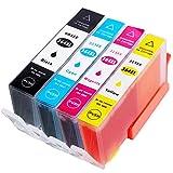 Wolfgray Kompatibel HP 364XL 364 XL Tintenpatronen 4 Farbe Hohe Kapazität Kompatibel mit Chip kompatibel zu HP Photosmart 5520 5510 6520 7520 7510 5514 5515 5524 6510 D5460 C6380 C5380 Deskjet 3070A 3520 3522 3524 Officejet 4620 4622 Drucker