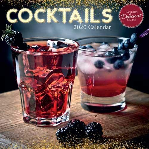 Cocktails: 2020 Square Wall Calendar