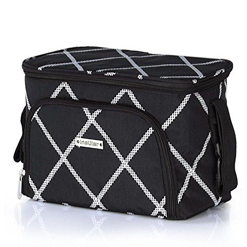 CaTop in 1Kinderwagen Organizer Verstellbare Schulter Tasche für Stars tragbar Baby Wickeltasche Buggy Reisen Tragetasche schwarz