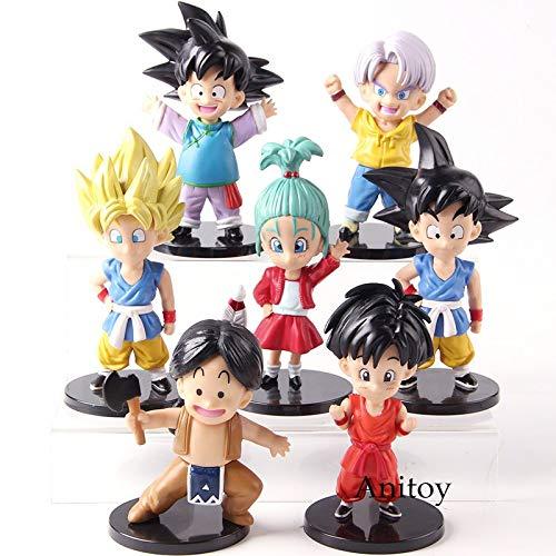 Dragon Ball Z Son Goku Goten Badehose Upa Bulla Youth Ver.PVC Dragonball Actionfiguren Sammlermodell Spielzeug 7 Teile/Satz