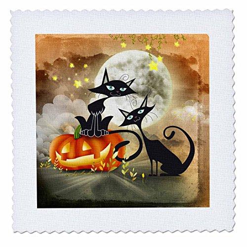 i Katzen ist, ein Furchterregendes Geschichte jeder andere, Quilt, Platz, 12von 12Zoll (QS _ 201124_ 4) (Benutzerdefinierte Halloween Shirt)