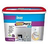 Knauf EasyPutz Schnee-Weiß, 10-kg Rollputz fein innen, mineralischer Innenputz mit hohem Mamoranteil, atmungsaktiver Putz für gesundes Raumklima, 1-mm Körnung