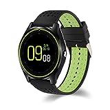 CITW Bluetooth-Smart-Armbanduhr mit Kamera, Touchscreen, ohne SIM-Karte, GPS-Ortung, Fitness-Tracker, wasserdicht, kompatibel mit Android, iPhone, für Damen und Herren Schwarz
