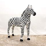 Simulazione Zebra Modello Peluche Giocattolo Bambola Grande Foto Matrimonio Prop Stazione Modello Simulazione Cavallo Panno Bambola 24 Lungo 37 cm di Altezza 45 cm Come Mostrato nel Colpo Reale