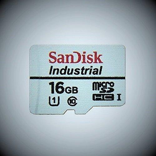 Sandisk Industrial 16GB microSD SDHC UHS-1 class 10 microSD Speicherkarte für industrielle Anwendungen 16GB miroSDHC class 10 Karte + SD Adapter + Schutzhülle SDSDQAF-016G C10 Industrial MLC Bulk
