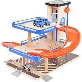 10343 Parcheggio Business class small foot in legno, compatibile con i binari ferroviari disponibili