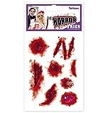 Tattoos Wunden HALLOWEEN Zombie Narbe Wunde Horrorwunde Horrornarbe Tattoos Horror Hexe Zombie Dracula Scherzartikel