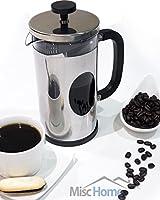 Misc Home [1 Liter] Gourmet Gunmetal Finish Stainless Steel French Press Coffee Maker Tea Maker, Coffee Press