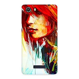 Delighted Art Girl Beauty Multicolor Back Case Cover for Micromax Unite 3