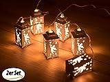 Wunderfabrik LED-Lichterkette Engel, 6 batteriebetriebene LED-Leuchten - Dekoration für die Festtage - 2er Set