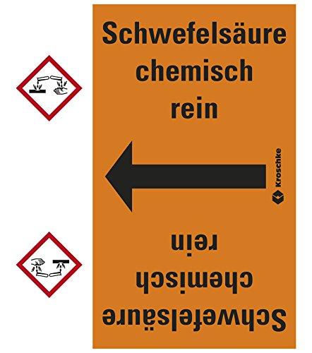 LEMAX® Rohrleitungsband Schwefelsäure chem.rein,praxisbewährt,ab Ø50mm,orange/schwarz,33m/Rolle (Chem-schild)