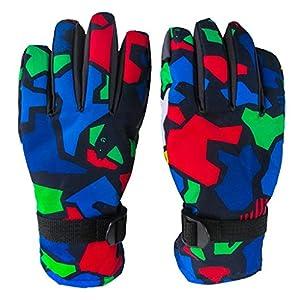 DEMU Wasserdichte Kinder Handschuhe Ski Kinderhandschuhe Finger-Handschuh Winterhandschuhe
