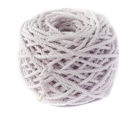 4mm corda di cotone Macrame del cavo di 50,3m 0,4cm Macrame corda 165Feet DIY Craft corda corda Plant Hanger appendiabiti da parete corda corda Infradito colorati estivi, con finte perline