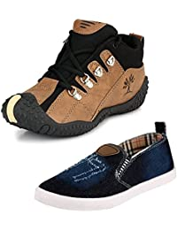 Tempo Men's Combo Pack Of Shoes (Casual & Slip On)