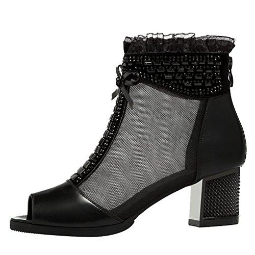 fq-real-womens-fashion-rhinestone-studded-t-strap-peep-toe-block-heel-mesh-sandals-35-ukblack