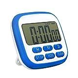 TOPELEK Digital temporizador de cocina, Temporizador de 24 horas reloj despertador con pantalla LCD...