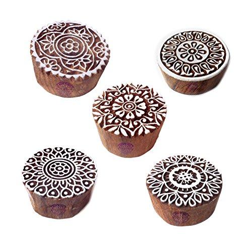 Royal Kraft Attraktiv Muster Mandala und Persisch Holz Blöcke Drucken Stempel (Set von - Dekor Persische